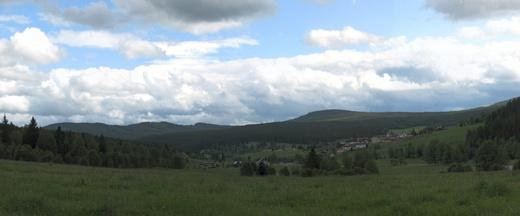 Kvilda - pohled od Tremla- panorama