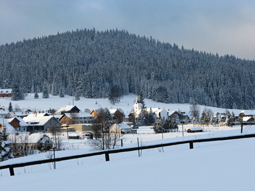 Kvilda - zimní pohled 2009